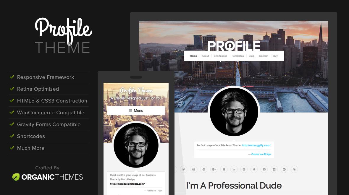 profile - wordpress theme