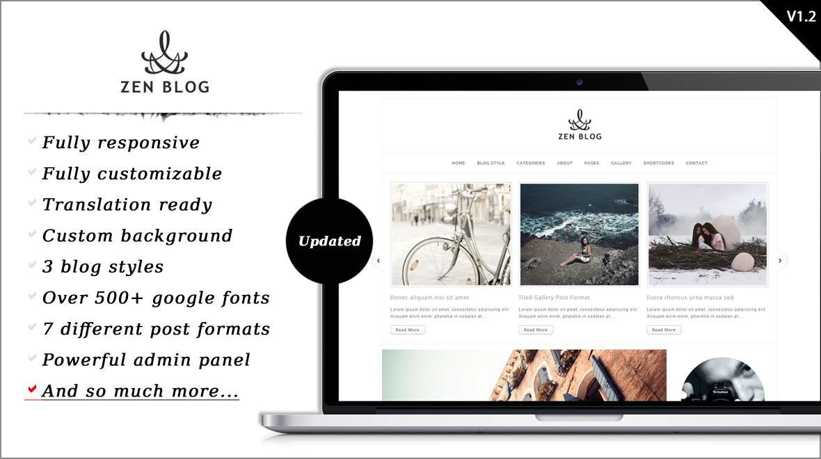 ZenBlog - Lovely WordPress Theme for Blog