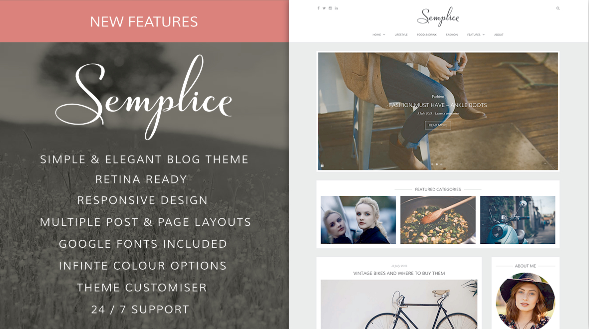Semplice - An Elegant WordPress Blogging Theme - Themes & Templates