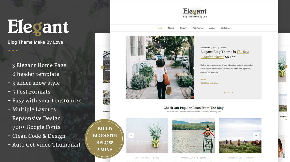 Elegant - Clean & Minimal WordPress Blog Theme - Themes & Templates