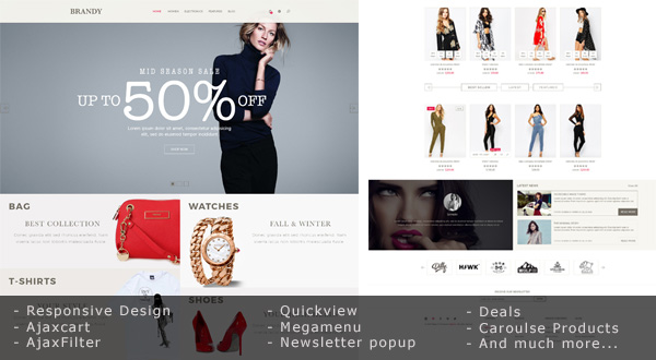 Brandy - Responsive Theme for Magento