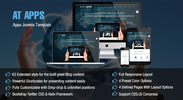 AT Apps – Mobile Apps Joomla template