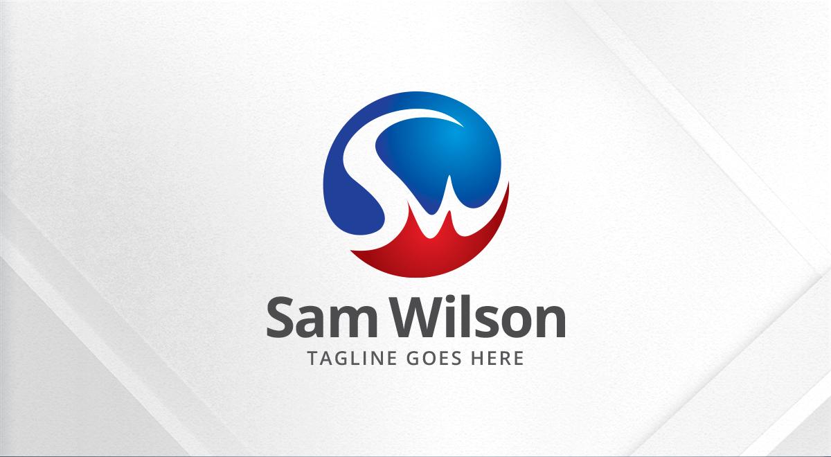Sam Wilson Letters Initials Sw Logo Logos Amp Graphics