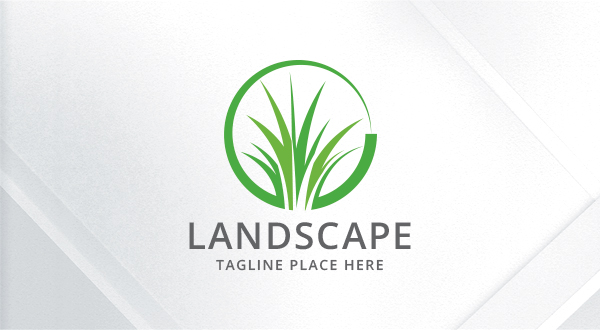 landscaping - lawn    grass logo