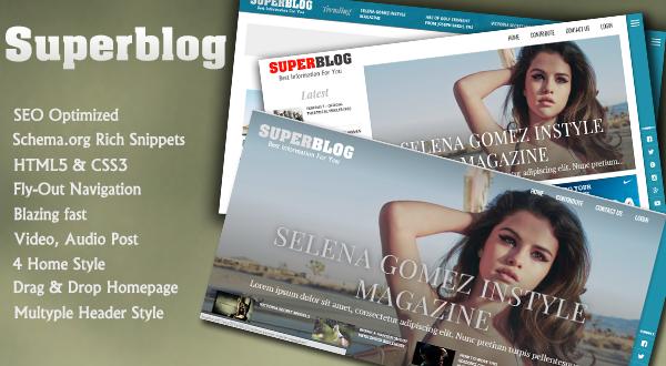 Superblog - Blog, News Or Article Directory Wordpress Theme - Themes ...
