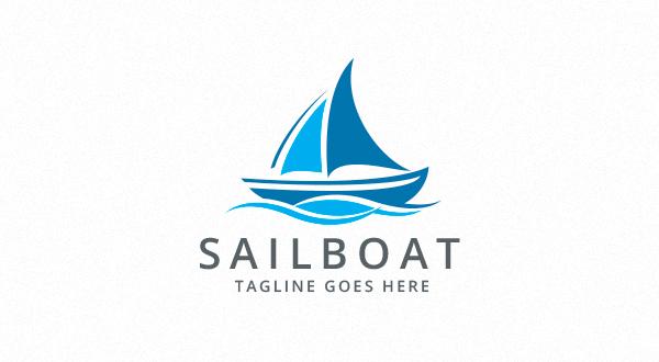 sailing boat logo logos amp graphics
