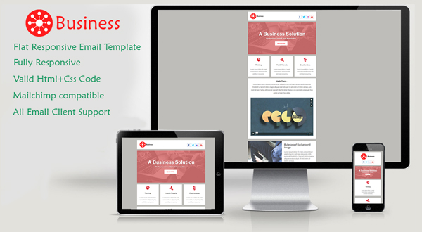 Business Responsive EMAIL TEMPLATE Themes Templates – Responsive Email Template