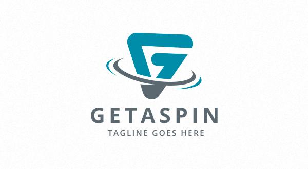 Getaspin Letter G Spin Logo Logos Amp Graphics