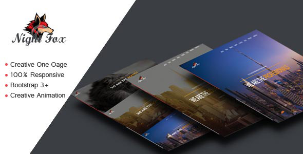 Fox One Page Parallax Template Themes Templates