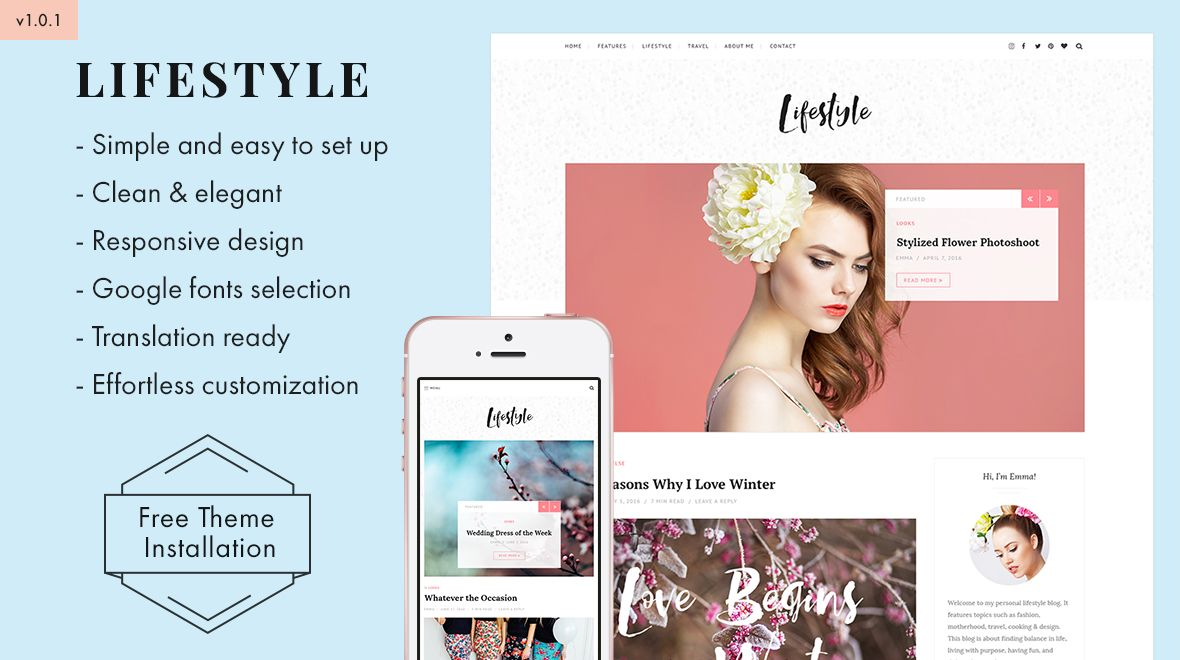 Lifestyle Elegant & Simple WordPress Blog Theme