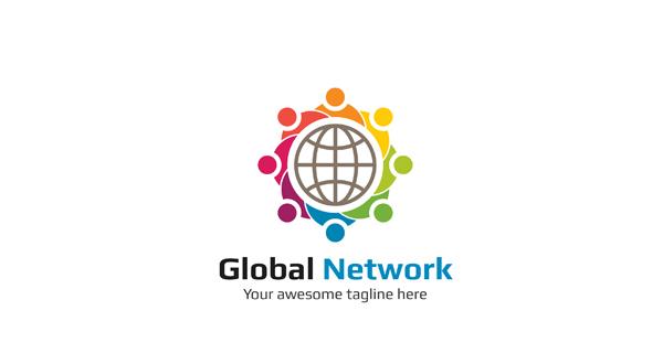 global network logo logos graphics