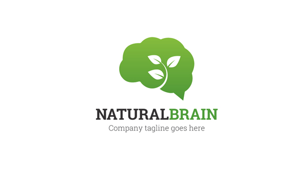 Natural - Brain Logo - Logos & Graphics