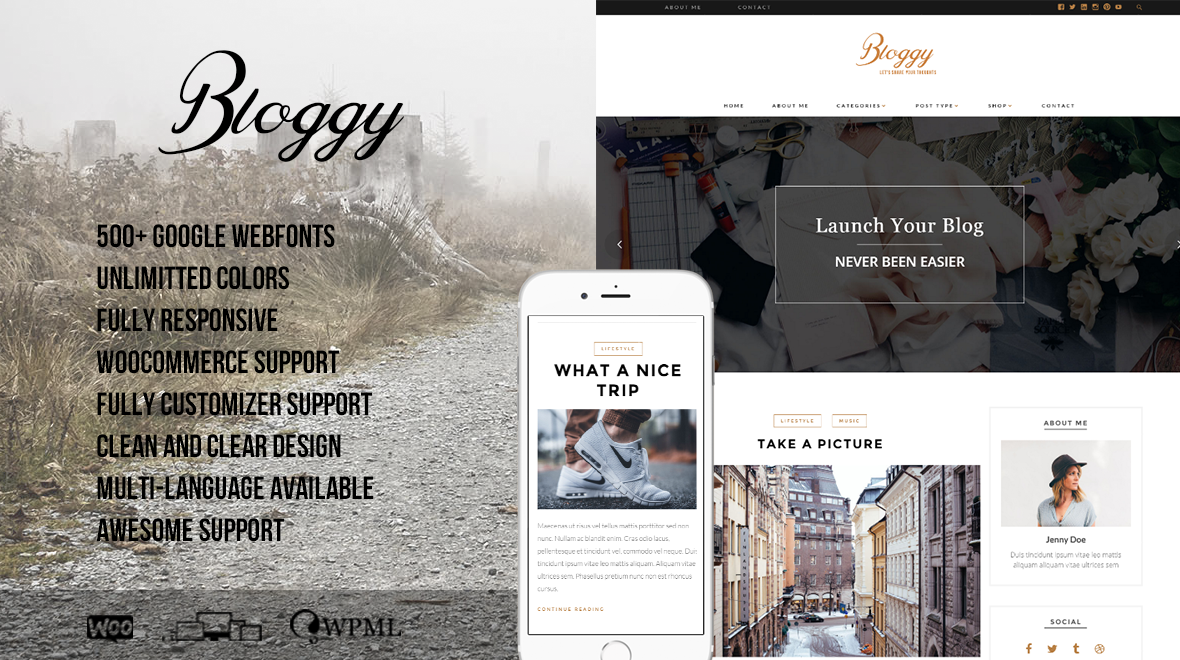 Bloggy - Clean and Responsive Blog Theme