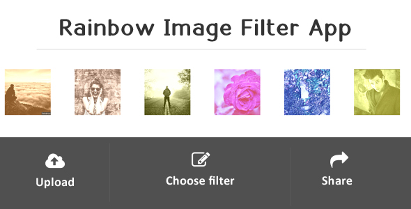 Rainbow - Image Filter Web Application Preview Image
