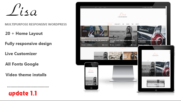 lisa WordPress theme