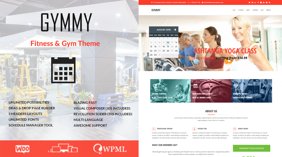 Gymmy WordPress theme