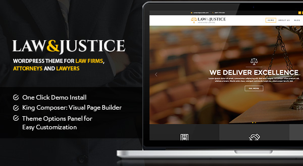 Law and Justice WordPress theme