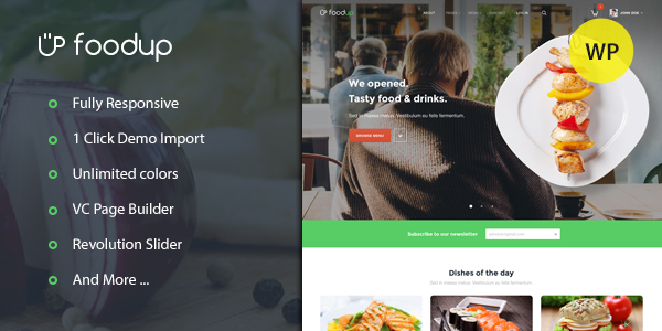 FoodUp WordPress theme
