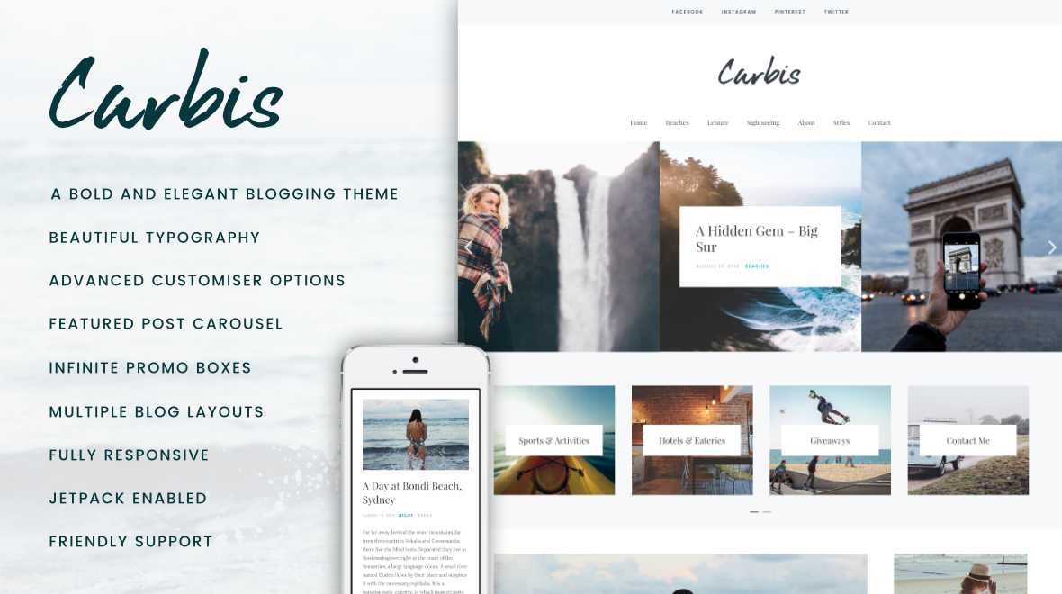 Carbis - A WordPress Blog Theme