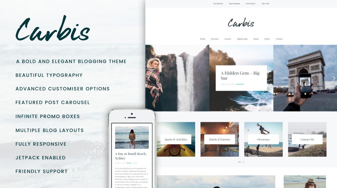 Carbis WordPress theme