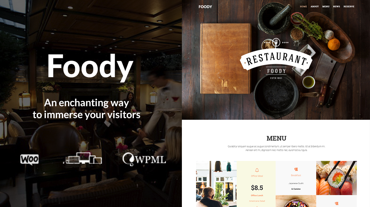 Foody - Restaurant WordPress Theme