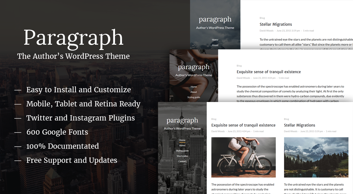 The Paragraph - Clean WordPress Theme for Blogs