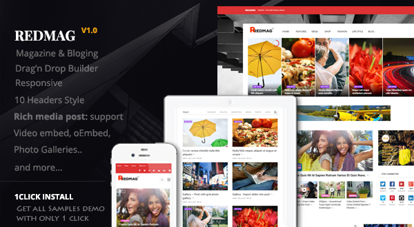 Redmag WordPress theme