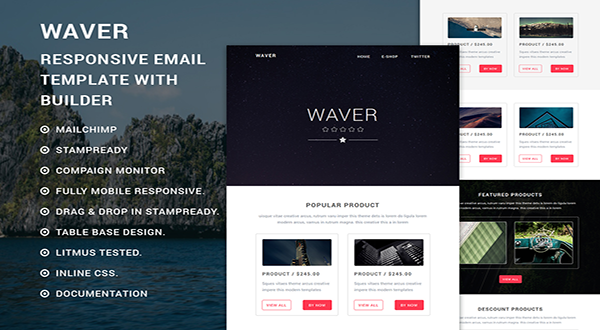 Waver - eCommerce Email Template With Builder