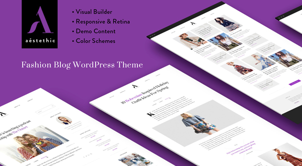 Aesthetic WordPress theme