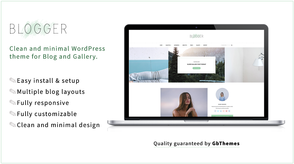 Blogger - Clean and Minimal WordPress Theme for Blog - Themes ...