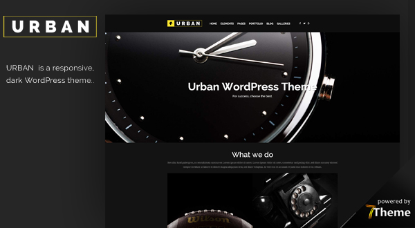Urban WordPress theme
