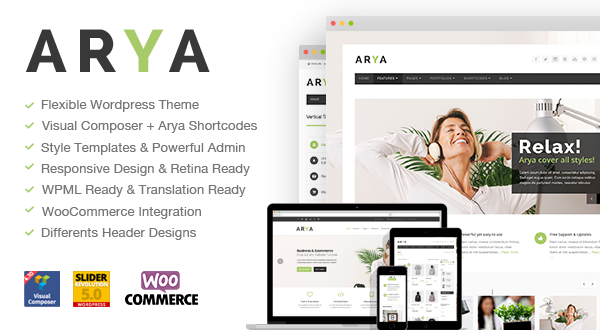 Arya business and e commerce wordpress theme themes templates 24 sales cheaphphosting Gallery