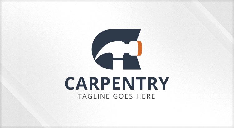 Carpentry Letter C And Hammer Logo Logos Amp Graphics
