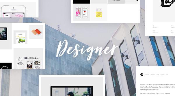 Designer creative agency freelance portfolio theme themes 6 sales maxwellsz