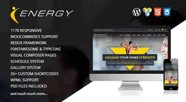 Energy - Fitness WordPress Theme