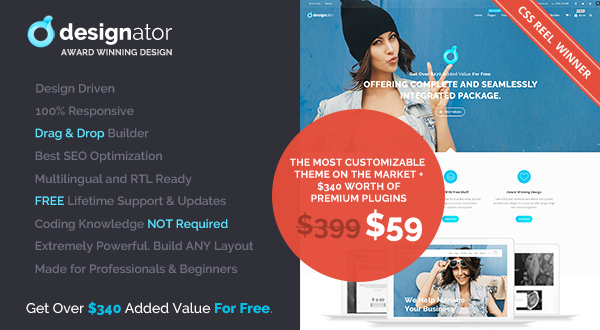 Designator - Unique Multi-Purpose WordPress Theme