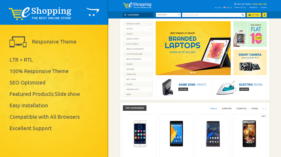 eShopping Opencart Theme Preview Image