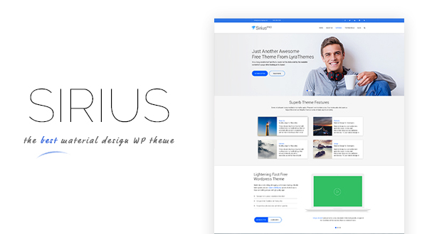 Sirius pro material design and business wordpress theme themes 11 sales cheaphphosting Image collections