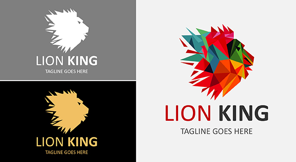 colorful - lion logo