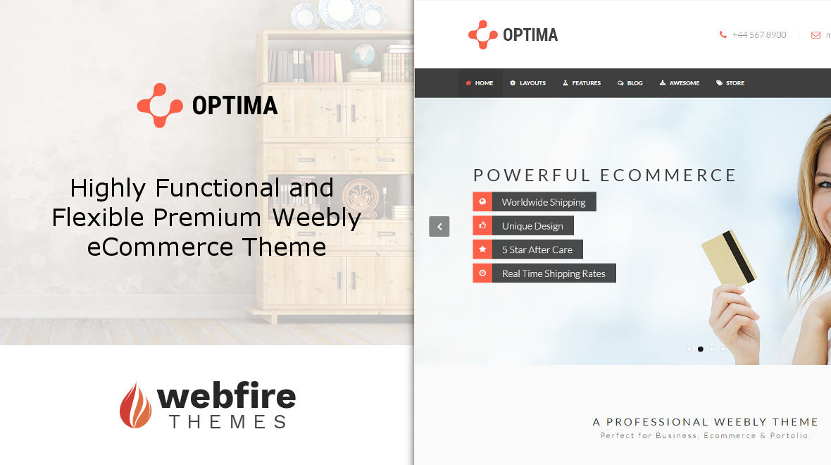Optima - Flexible, Functional eCommerce Weebly Theme - Themes ...