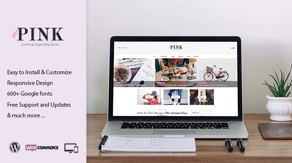 Pink - A Mini & Simple Blog Theme