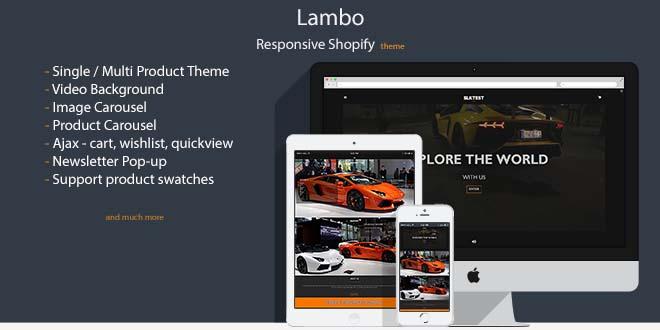 Lambo – All-Purpose Single Product Shopify Theme