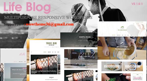 Lifeblog - Multiple Layout WordPress Blog Theme