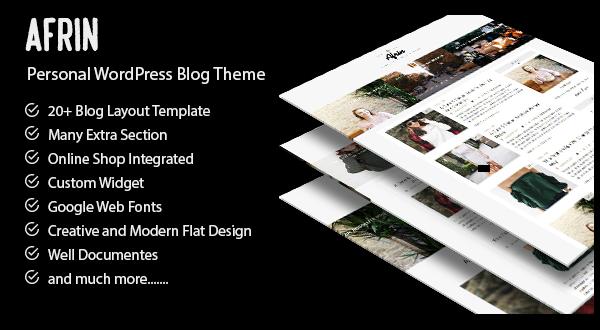 Afrin - A WordPress Blog Theme