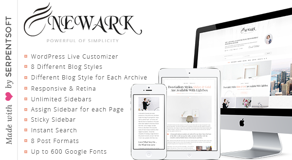 Newark - A WordPress Blog Theme