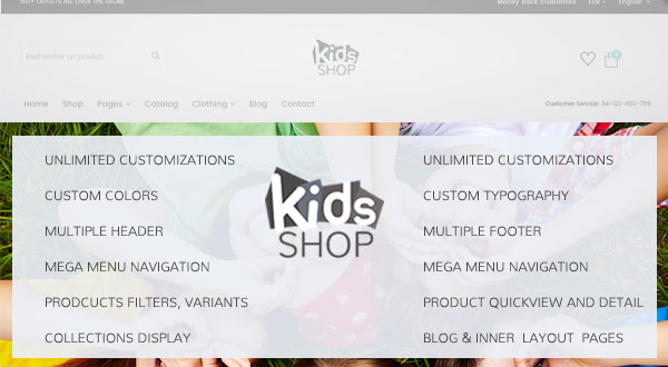 KidsShop - Multipurpose Shopify Drag & Drop eCommerce Theme Preview Image