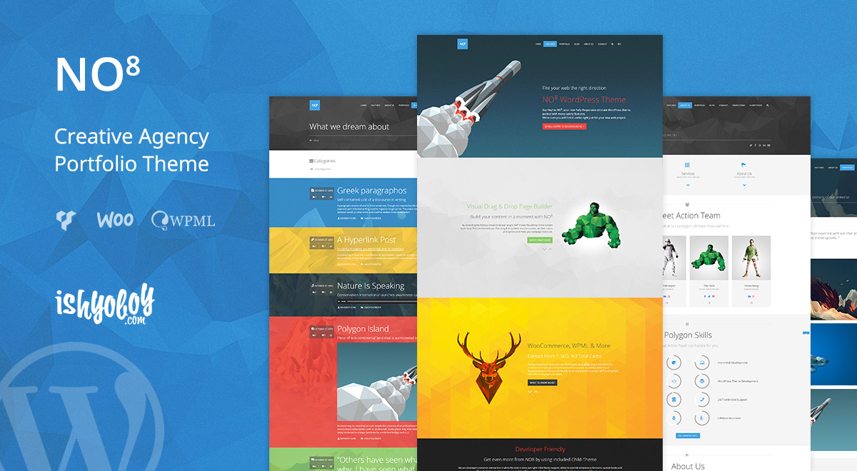 NO8 - Creative Agency Portfolio Theme for WordPress