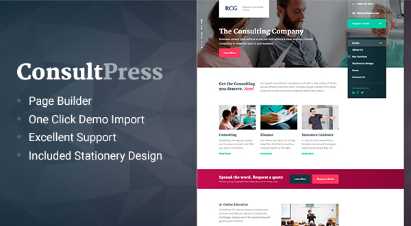 ConsultPress - WordPress Theme for Consulting and Financial Businesses