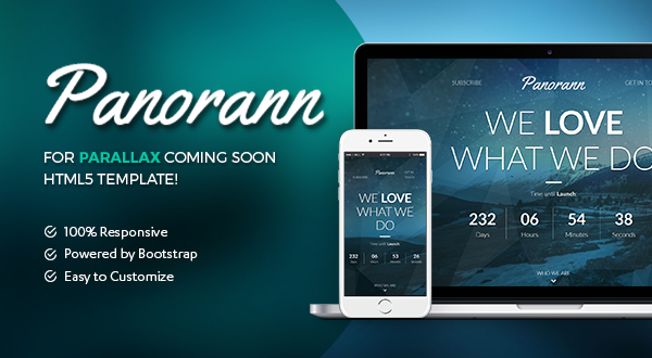 Panorann | Under Construction Bootstrap Template Preview Image