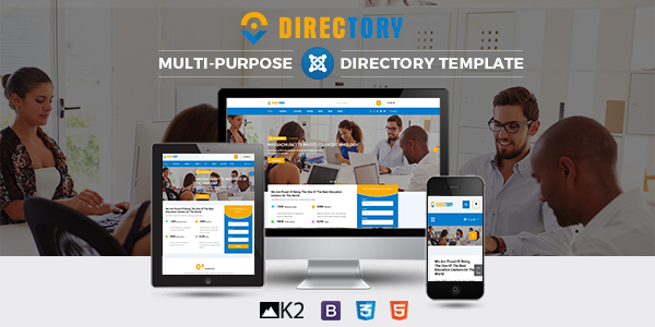 SJ Directory - Customizable Directory Joomla Template Preview Image